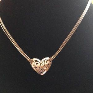 """Brighton Triple Chain """"Eva Heart"""" Necklace"""